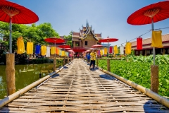 To Wa Bridge is Iocated at Ched Lin Temple, Chiang Mai